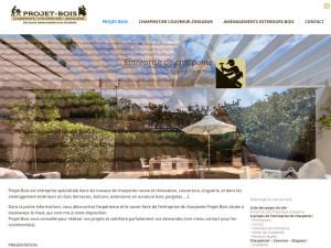 Site internet Benjamin Blanchon entreprise de charpente Projet-Bois