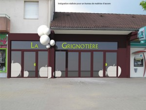 intégration architecture façade magasin