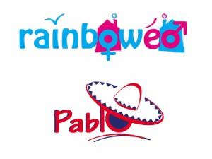 création des logos rainbowéo et pablo