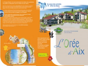 plaquette programme immobilier Aix les Bains