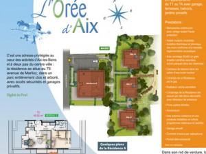 plaquette programme constructeur Aix les Bains