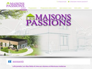 site internet Les Maisons Passions
