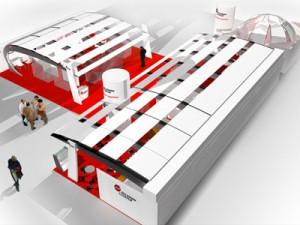 Etudes 3D Stand d'exposition