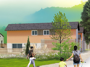 perspective ensemble immobilier à Vimines