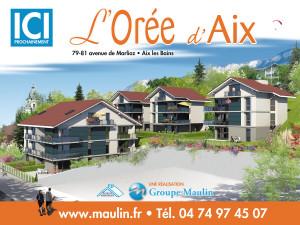 graphisme panneau 4×3 Résidence à Aix les Bains