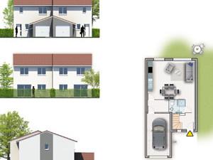 plans promotionnels façades et niveaux villa