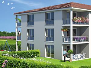 graphisme perspective programme immobilier en Isère 1