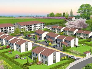 graphisme perspective programme immobilier en Isère 2