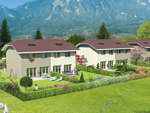 perspective projet immobilier villas jumelées