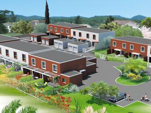 graphisme programme immobilier villas dans le Gard