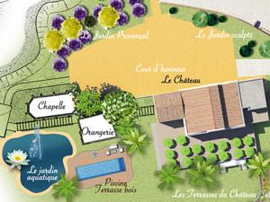 stylisme plan de masse pour le projet du Château Serame