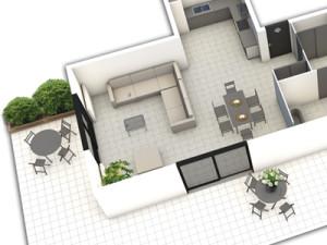 appartement plan 3D